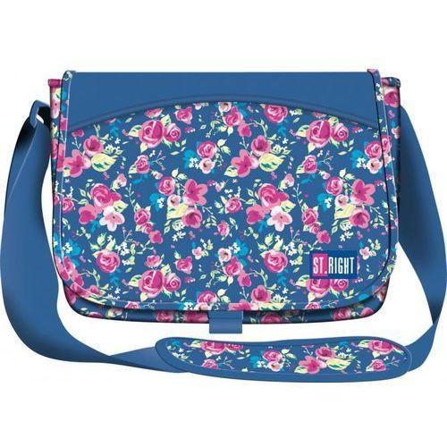 MAJEWSKI Torba na ramię SB1 FLOWERS NAVY BLUE Darmowy odbiór w 20 miastach!, 5903235613111
