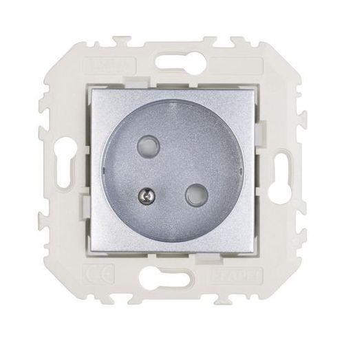 Gniazdo pojedyncze quadro 45 aluminium marki Efapel