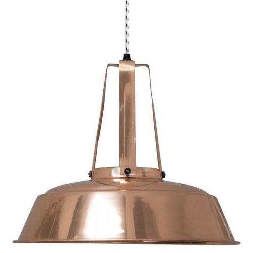:: przemysłowa lampa workshop miedziana, rozm. l - miedziany marki Hk living