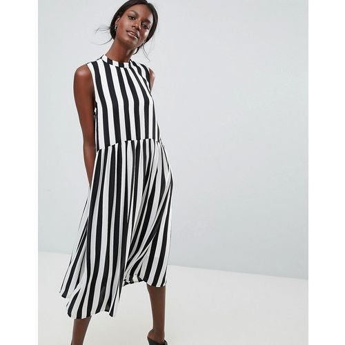 Y.A.S High Neck Stripe Midi Dress - Multi, w 3 rozmiarach