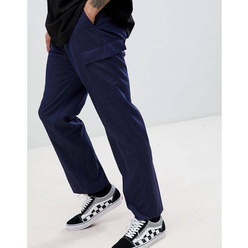 Weekday limited edition hare striped smart joggers - black