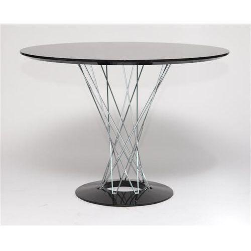 D2.design Stół cyklon okrągły, czarny