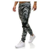 Spodnie męskie dresowe joggery moro-szare Denley QN269, dresowe