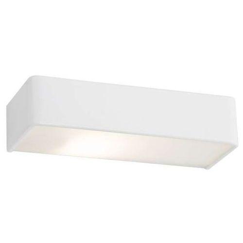 Kinkiet lampa ścienna flat led 10w 20297101 minimalistyczna oprawa metalowa straight prostokątna biała marki Kaspa