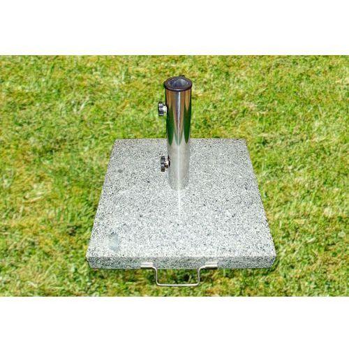 Podstawa z granitu i stali nierdzewnej z kółeczkami pod parasol 40 kg