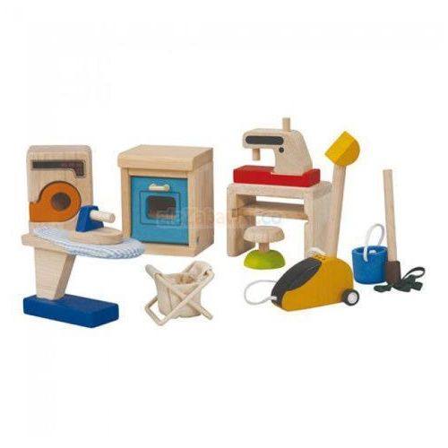 Mebelki dla lalek Sprzęty domowe dla lalek, Plan Toys PLTO-9710, PLTO-9710