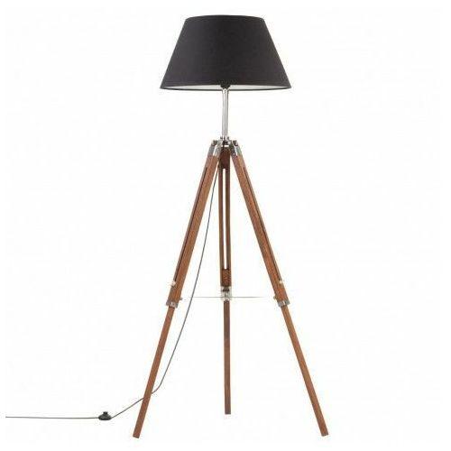 Lumes Brązowo-czarna regulowana lampa stojąca z drewna - ex199-nostra