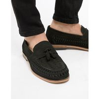River Island Leather Loafers With Tassels In Black - Black