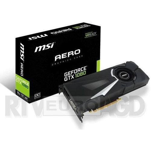 MSI GeForce Cuda GTX 1080 Aero OC 8GB DDR5 256bit