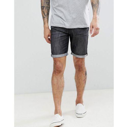 basic denim turn up shorts - black marki Threadbare