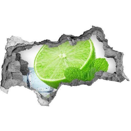 Samoprzylepna naklejka limonka z lodem marki Wallmuralia.pl