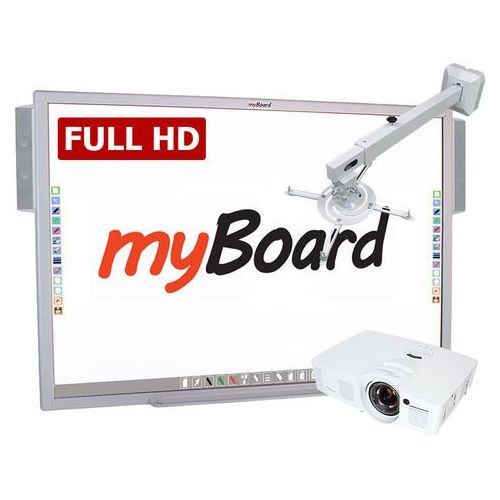 Myboard Zestaw interaktywny silver full hd standard 90 panorama