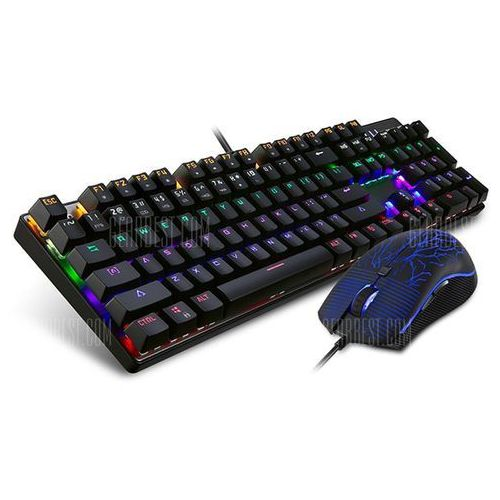 Motospeed CK666 Optical Mechanical Keyboard Mouse Combo z kategorii Keyboardy i syntezatory