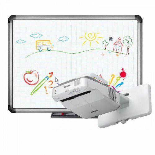 Interwrite Tablica truboard r5-800e+ projektor ultrashort epson eb-670 z uchwytem