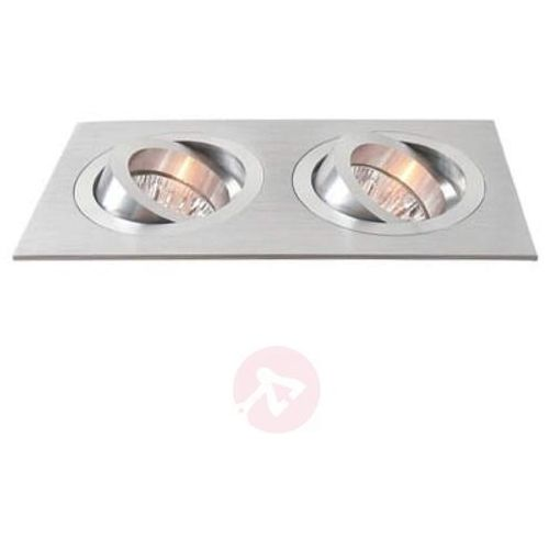 Deko-light 2-punktowy wychylny pierścień wpuszczany aluminium (4042943107565)