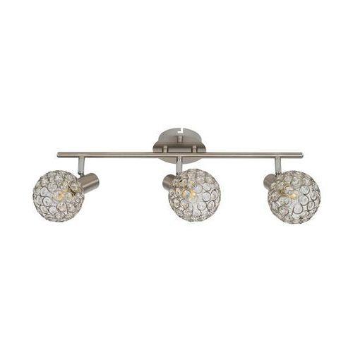 Krislamp Klara KR 321-3L listwa lampa sufitowa plafon spot 3x40W E14 satyna (5907582568766)