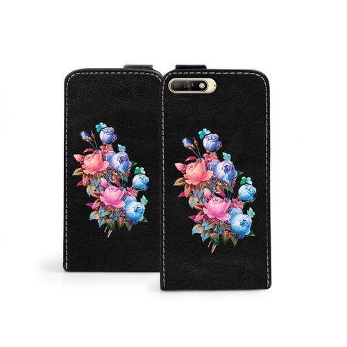 Etuo flip fantastic Huawei y6 (2018) - etui na telefon flip fantastic - bukiet róż