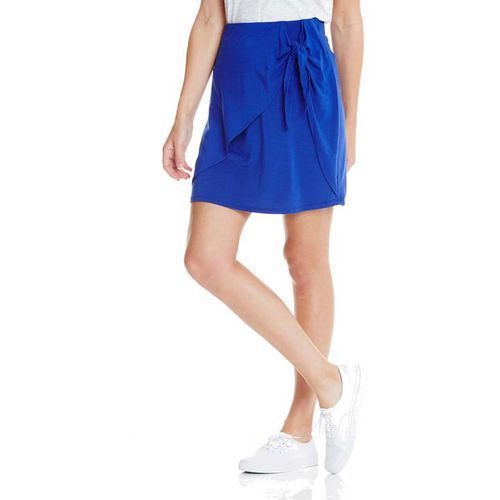 spódnica BENCH - Front Knoted Skirt Yves Blue (BL11216), kolor niebieski