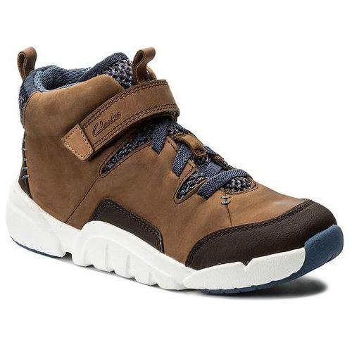 Trzewiki CLARKS - Tri Mimo Jnr 261270866 Tan Leather, kolor brązowy