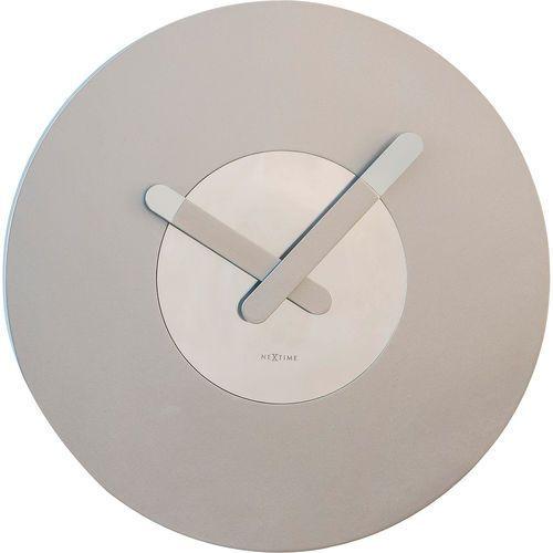 Nextime Okrągły zegar ścienny in touch srebrny (3189 zi) (8717713018476)