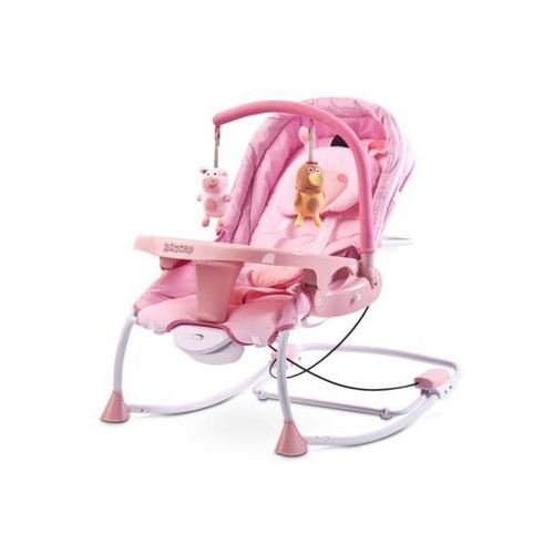 Caretero Leżaczek bujaczek huśtawka dla dziecka rancho pink