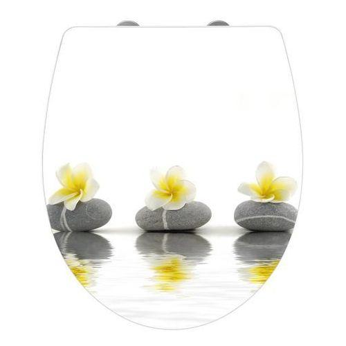 Wenko Deska sedesowa stones with flowers - duroplast, wolnoopadająca, (4008838532492)