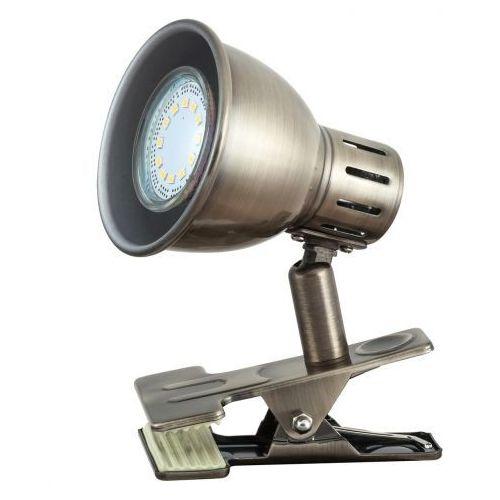 Rabalux Lampka stołowa klips lampa ralph 1x15w gu10 brąz 6718 (5998250367187)
