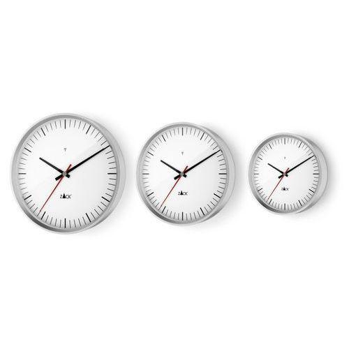 Zack - Zegar ścienny sterowany radiowo 30 cm - biały - stal nierdzewna matowa - 30,00 cm, kolor biały