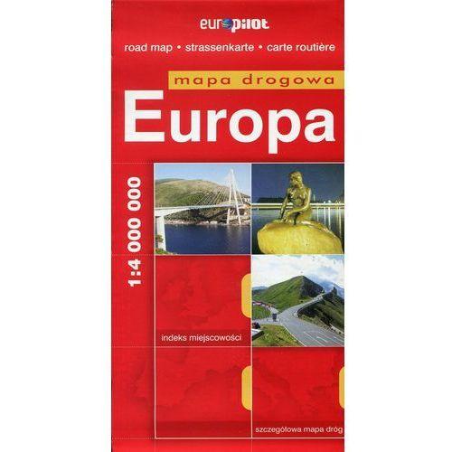 Europa. Mapa Droga W Skali 1:4 000 000, książka w oprawie miękkej