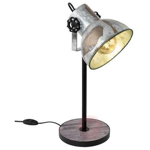 Lampa stołowa barnstaple 49718 lampka 1x40w e27 czarna / brązowa patyna marki Eglo