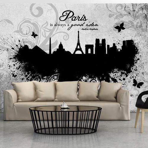 Artgeist Fototapeta - paris is always a good idea - black and white