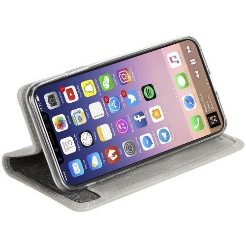 Krusell Sunne 4 Card FolioWallet - Skórzane etui iPhone X z kieszeniami na karty + stand up (Light)