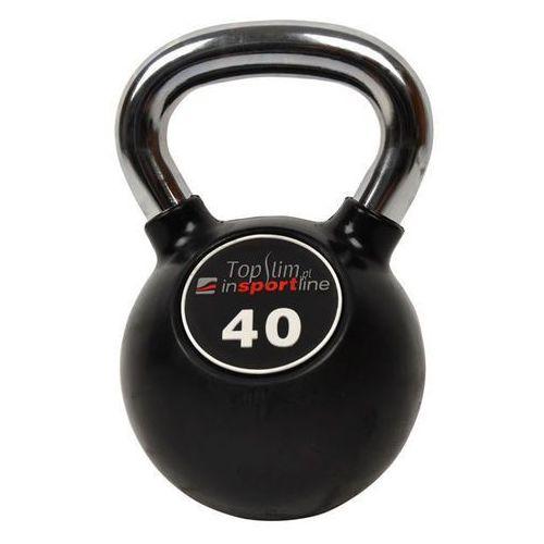 Hantla ogumowana Kettlebell 40kg Insportline - 40 kg