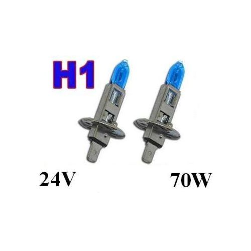 Żarówki (2szt.) H1 White Xenon H.I.D. do Ciężarówek... (24V - moc 70W) - Homologowane., 5907773414872