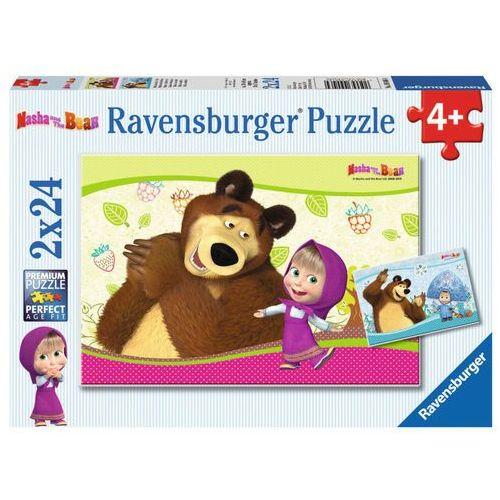 Ravensburger Puzzle 2x24 masza i niedźwiedź (4005556090464)