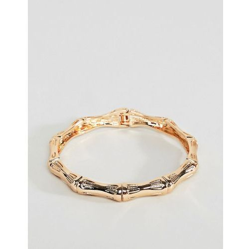 ASOS DESIGN bangle bracelet with chunky textured vintage detail in gold - Gold