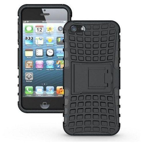 Perfect Armor Czarna   Pancerna obudowa etui dla Apple iPhone 5 / 5S / 5SE - Czarny (Futerał telefoniczny)