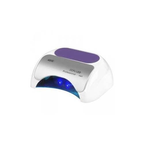 Vanity_a Lampa professional 2w1 uv led+ccfl 48w timer+sensor biała (5906717409790)