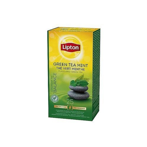 Lipton Herbata green tea mint, 25 torebek foliowanych
