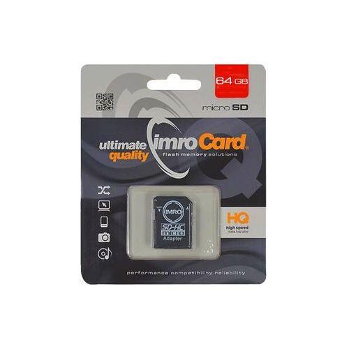 Karta MicroSD Imro 64GB (KOM000517) Darmowy odbiór w 21 miastach! (5902768015454)