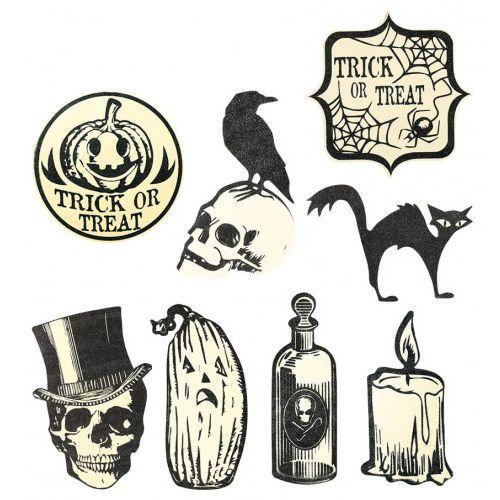 Zestaw dekoracji halloween'owa na ścianę - 9 szt. marki Guirca