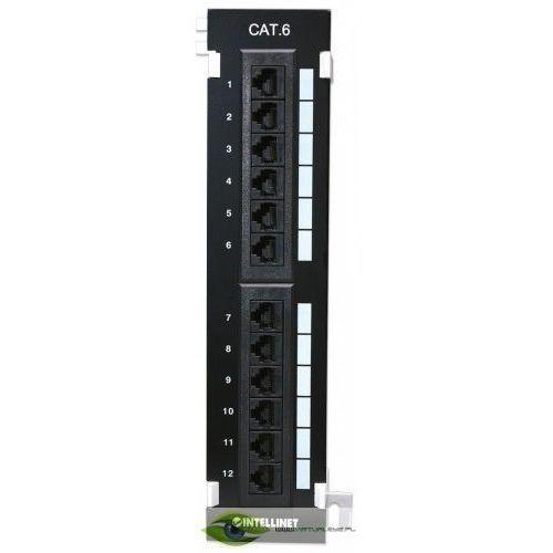 Intellinet Patch panel naścienny 12 portów UTP kat.6 czarny