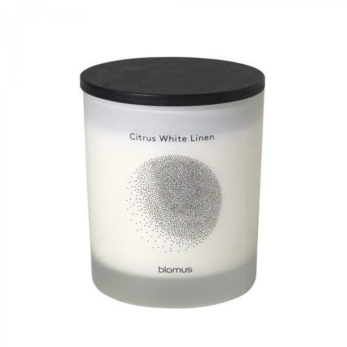 Blomus Świeca zapachowa flavo 9 cm citrus white linen