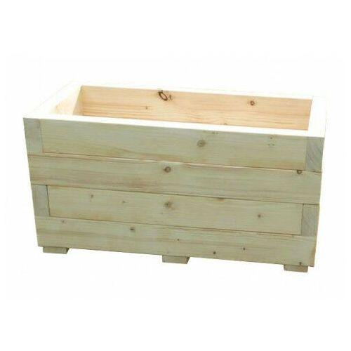 Drewniana prostokątna donica ogrodowa 15 kolorów - Paola