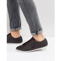 kingston leather plimsolls in brown - brown marki Fred perry