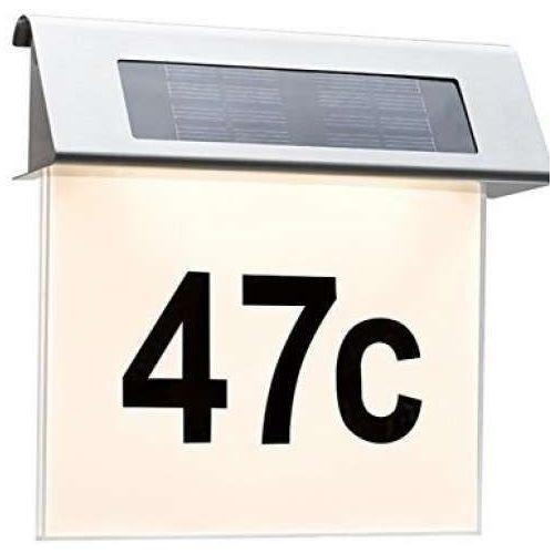 Kinkiet solar led z numerem domu, 93765 paulmann marki Paulmann