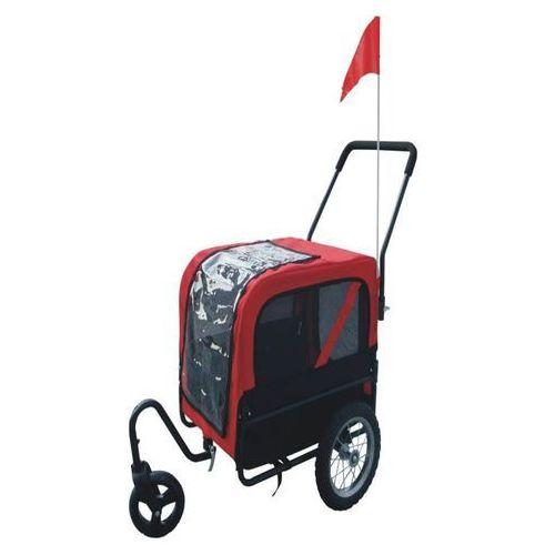 Vidaxl  przyczepka rowerowa do biegania i transportu psa, czerwona (8718475828600)