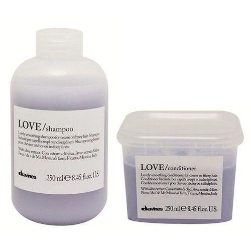 Davines Love Smooth   Zestaw wygładzający włosy: szampon 250ml + odżywka 250ml (9753197531261)