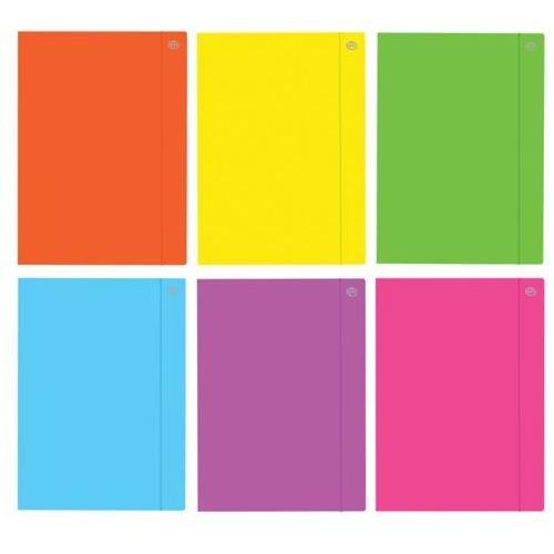 Interdruk Teczka z gumką a5  fluo mix kolorów