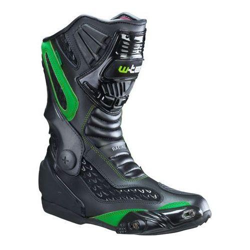 W-tec Skórzane buty motocyklowe nf-6003, zielony, 46 (8596084021854)